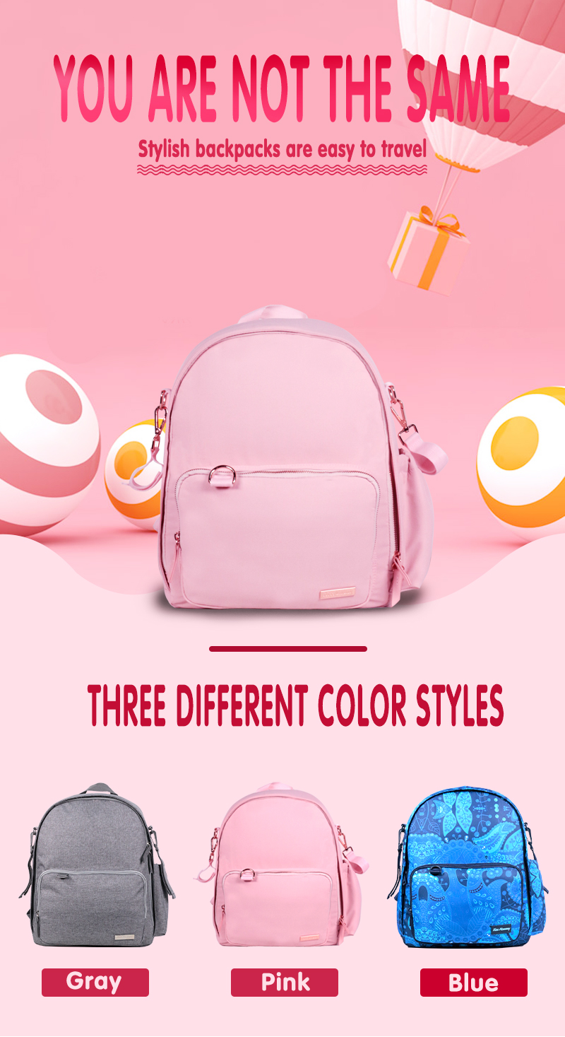 OEM Water Resistant Diaper Bags For Baby Girl