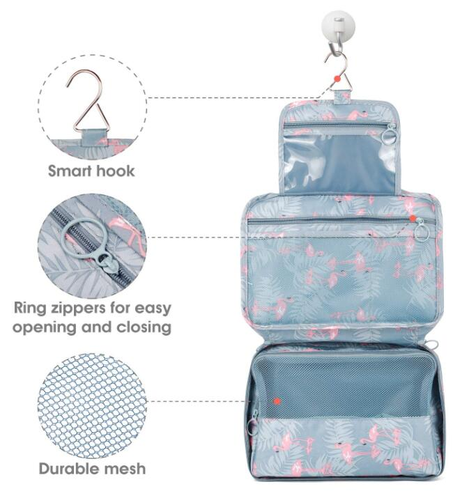 Hanging Travel Toiletry Bag Cosmetic Make Up Organizer