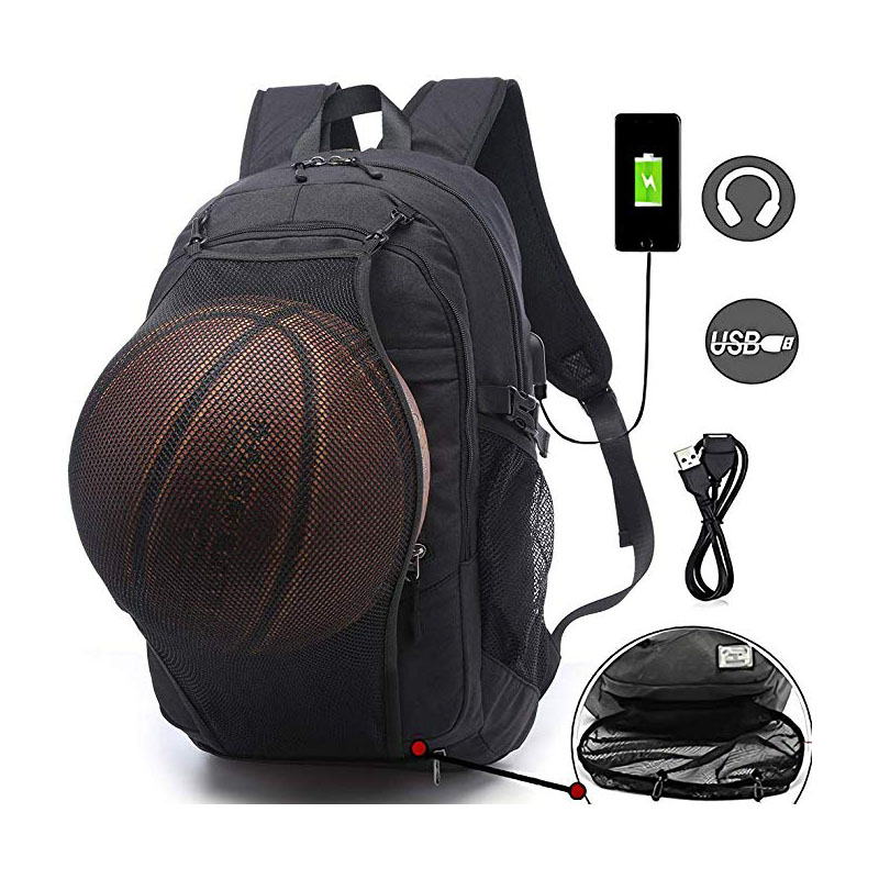 USB Charging Port & Headphone hole backpack