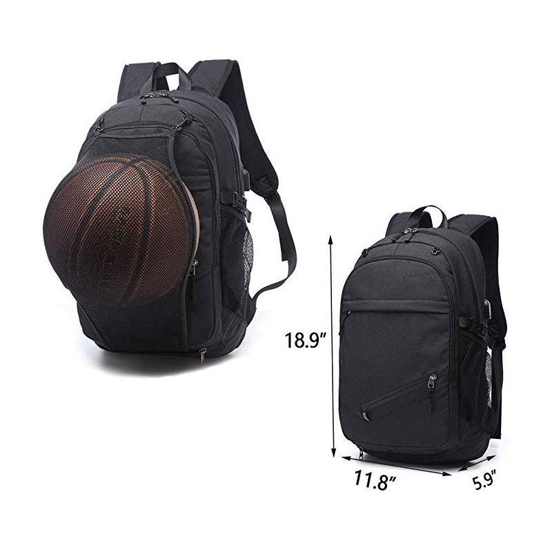 Students Sports Backpacks with Ball Compartment: dimensions
