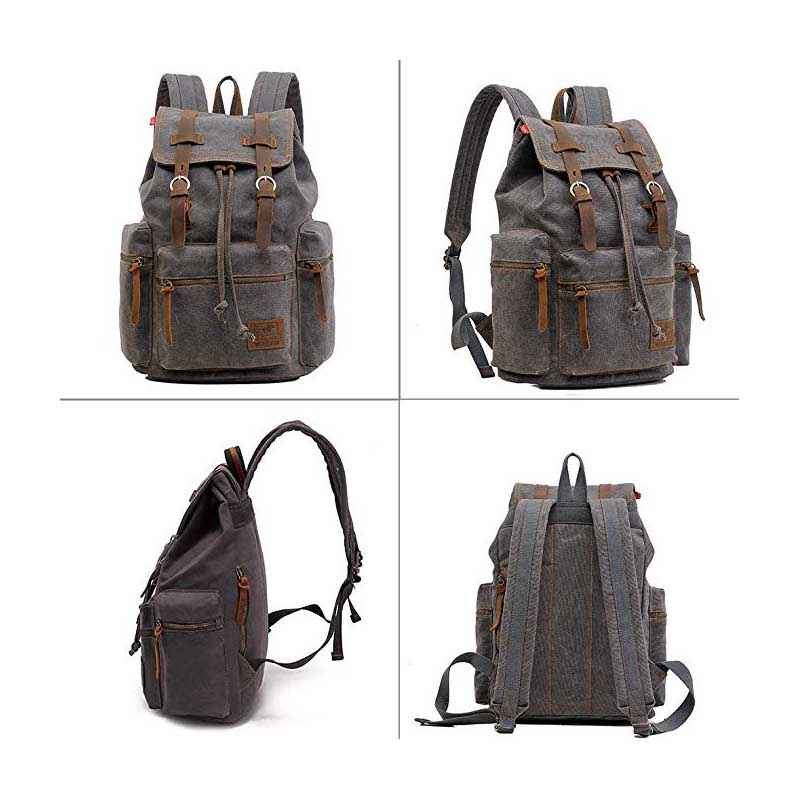 Canvas Backpack with Multipurpose Waterproof