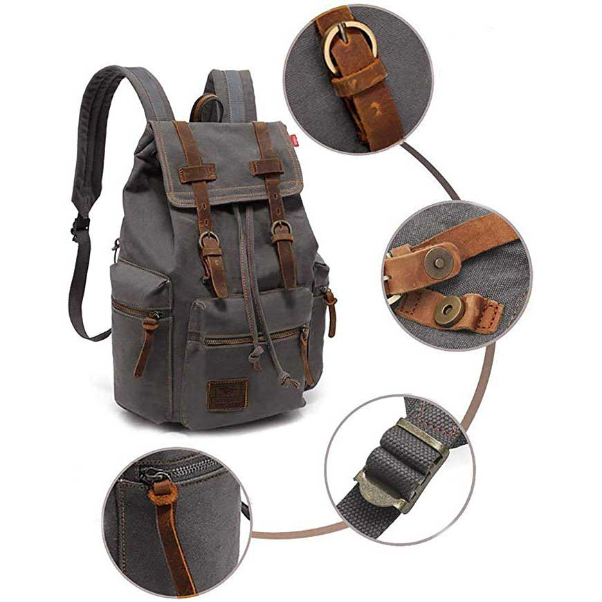 High Quality Material Canvas Backpack