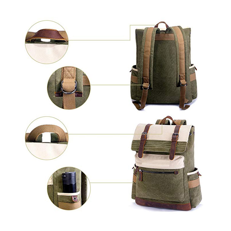 Canvas Backpack with Retro & Stylish Design