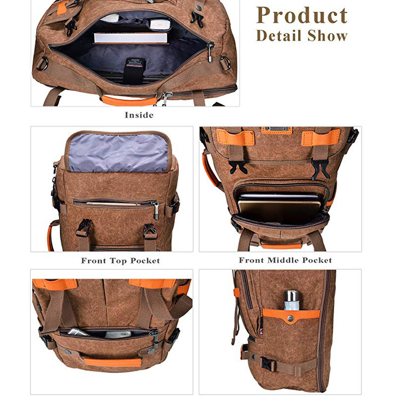 Canvas Backpack with Large Capacity
