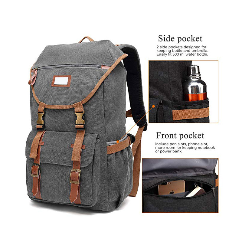 Ergonomic and lightweight Canvas Backpack