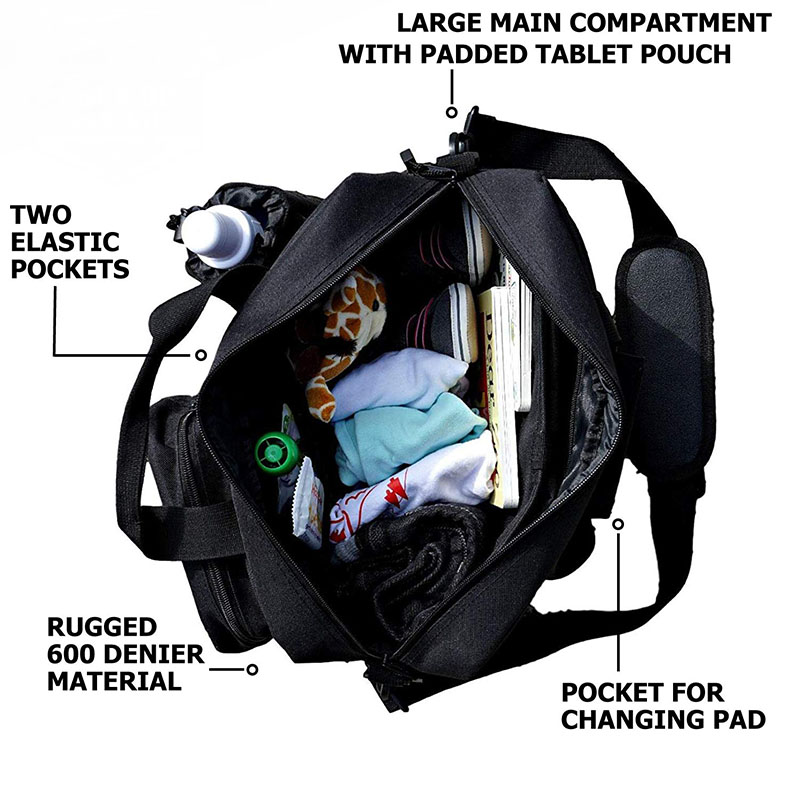 Large Diaper Bag for For Two Kids
