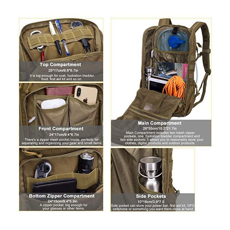 Tactical Backpack with Ventilation Compartment