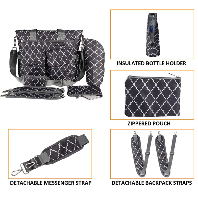 Diaper Bag with Bottle Thermal Bag