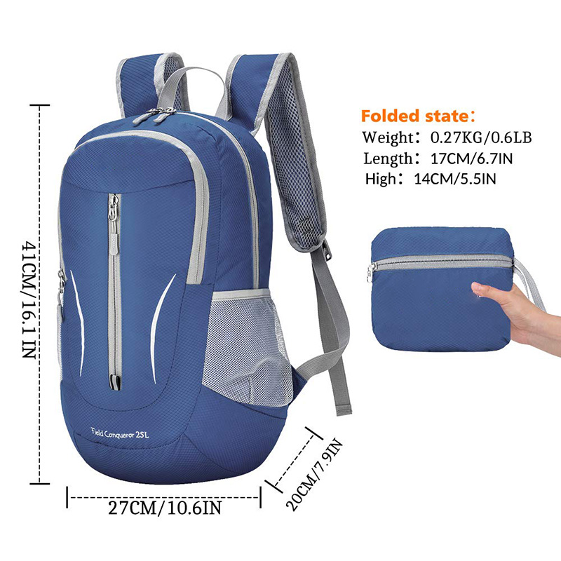 25L Lightweight Packable Hiking Backpack