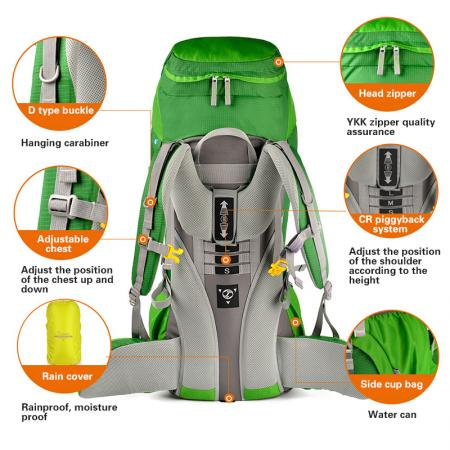 Water Resistant Camping Backpack