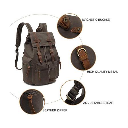 High Capacity Hiking Canvas Vintage Backpack
