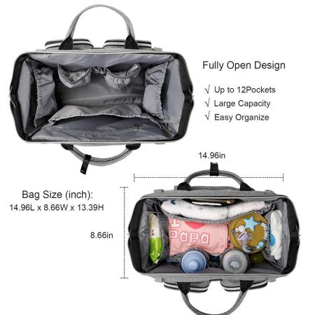 Multiple  Parents Tote Diaper Bag