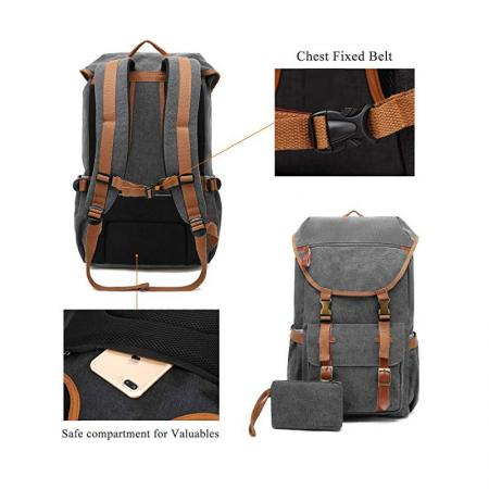 Multi-functional Canvas Backpack bag